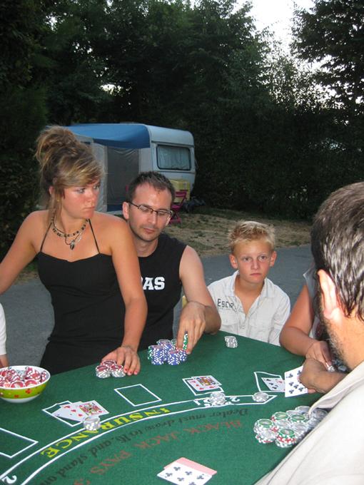 Soirée casino au camping