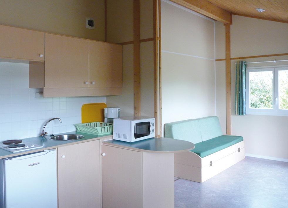 cuisine et salon du chalet